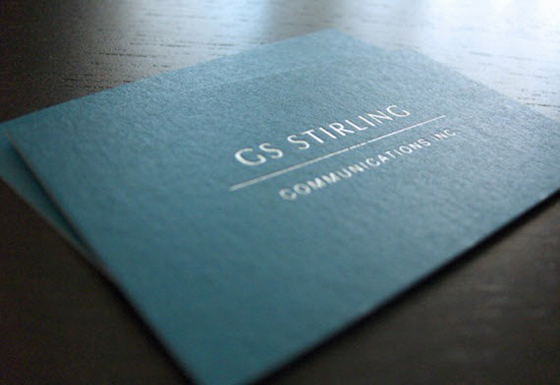 Stirling business cards
