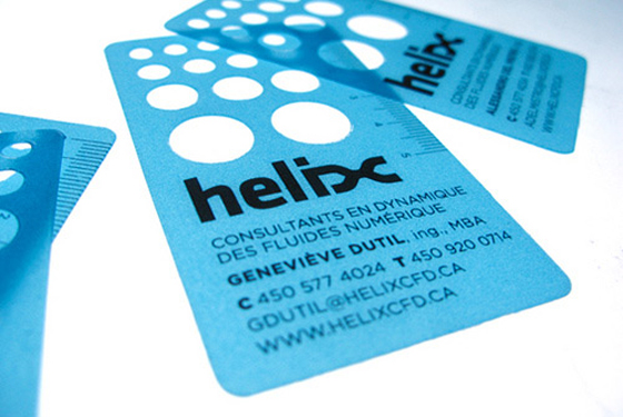 Helix transparent business cards