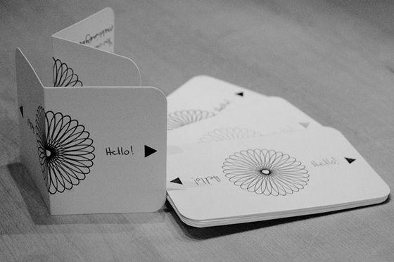 Nicely illustrated business cards