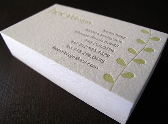 Hoey Design business cards