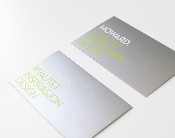 The business cards of Howard