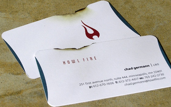 Howl Fire business cards