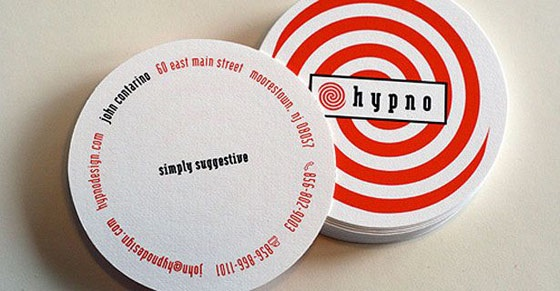 Hypnotizing business cards