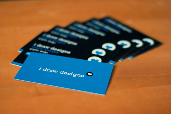 I draw designs business card