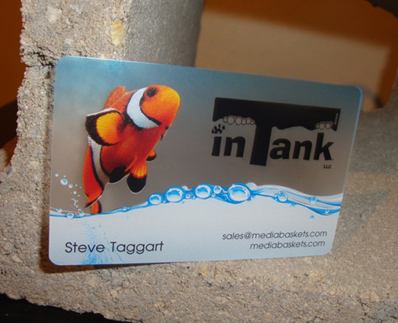 In Tank business card