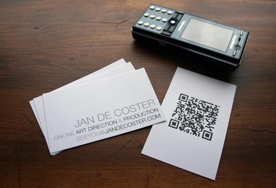 Jan de Coster QR business cards
