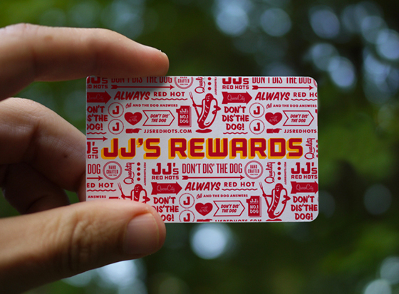 JJ's Red Hots business card