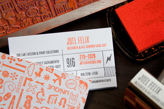 Stamped Business Cards Inspiration Cardfaves