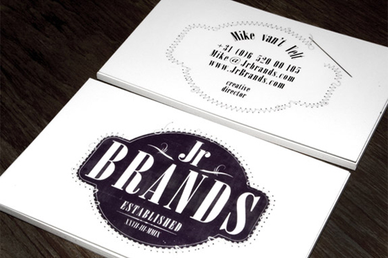 Jr. Brands business cards