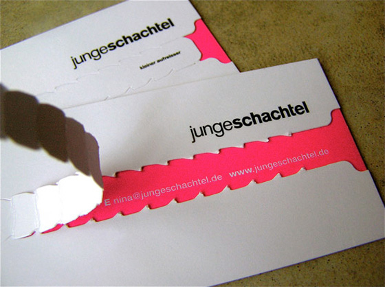 Young box business cards