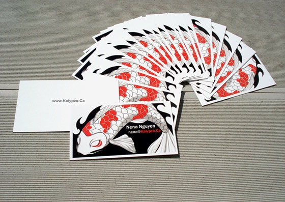 Ilustrative business cards from Kalypzo