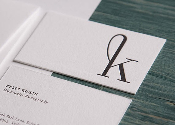 Minimal white business cards