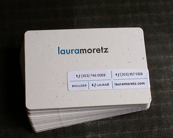 Business cards of Laura Moretz