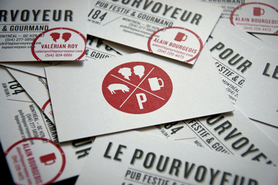 Le Pourvoyeur business card