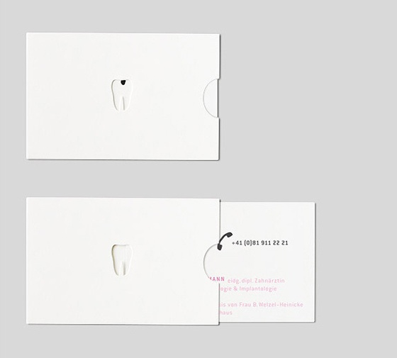 Interactive business cards for dentist
