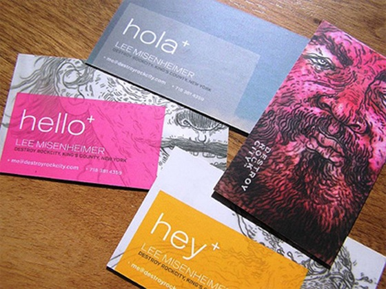 Illustrator business cards inspiration cardfaves business card of lee misenheimer colourmoves