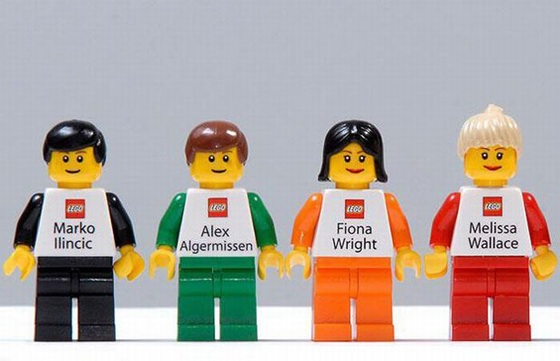 Business cards from LEGO