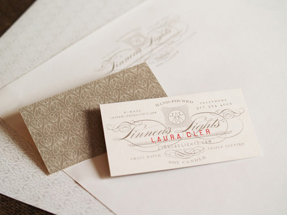 Linneas Lights business cards