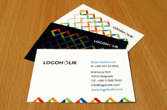 Logoholik business cards