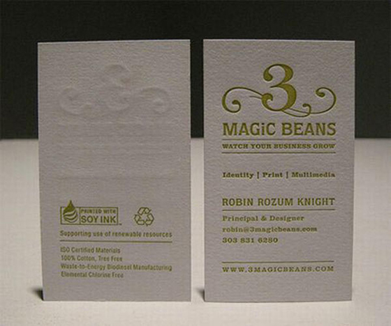 Magic Beans business cards