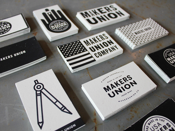 Makers Union business cards