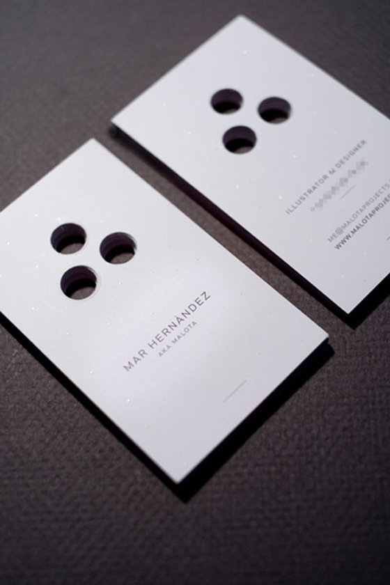 Business cards of Mar Hernandez