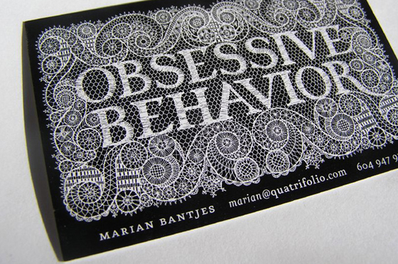 Obsessive behavior business cards