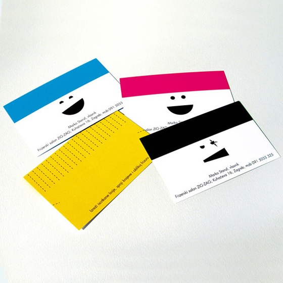 Hair dresser business cards