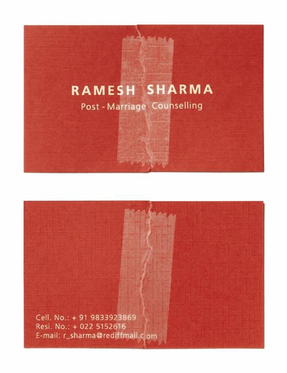 Post-Marriage Counselling business cards