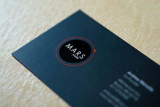 Mars made business cards