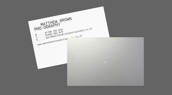 Matthew Brown business cards