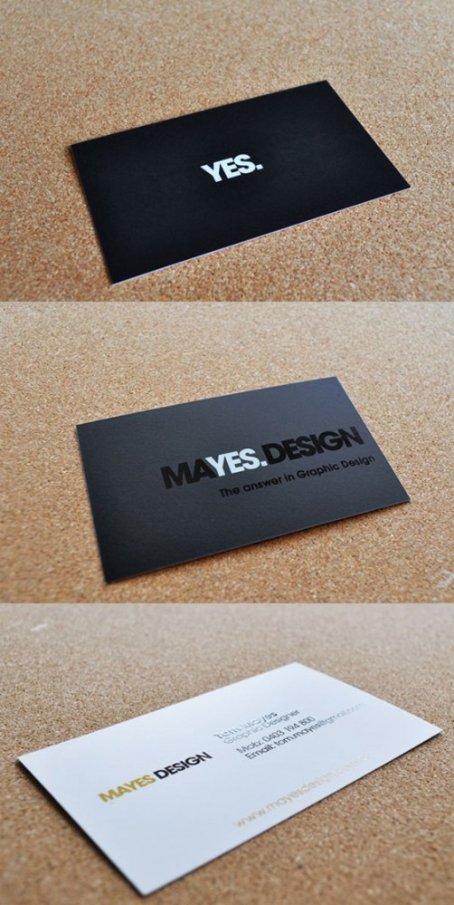 Mayes Design business card