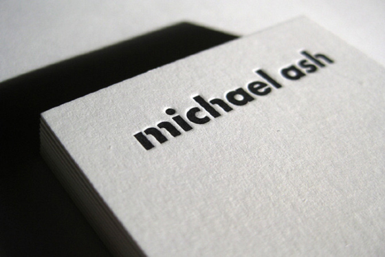 Business card of Michael Ash