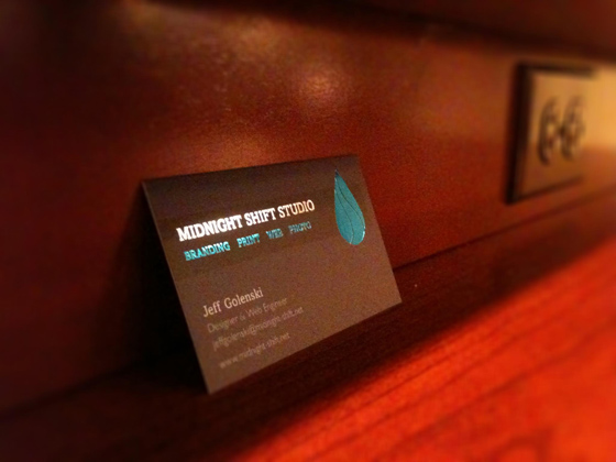 Business cards of Midnight Shift Studio