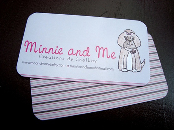 Minnie and Me business cards
