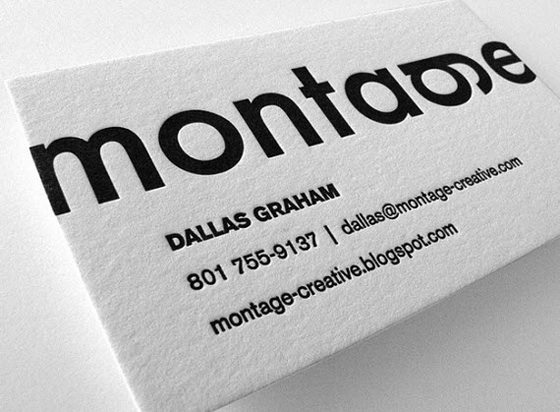 Montage business cards