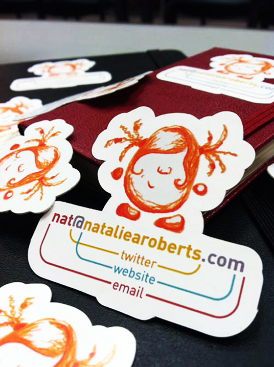 Business cards of Natalie Roberts
