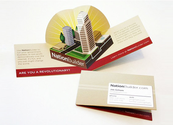 Nation Builder business card