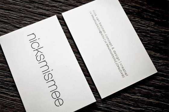 Nicksmismee business cards