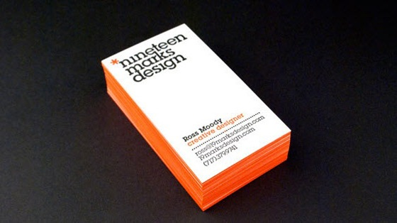 Nineteen Marks Design business cards