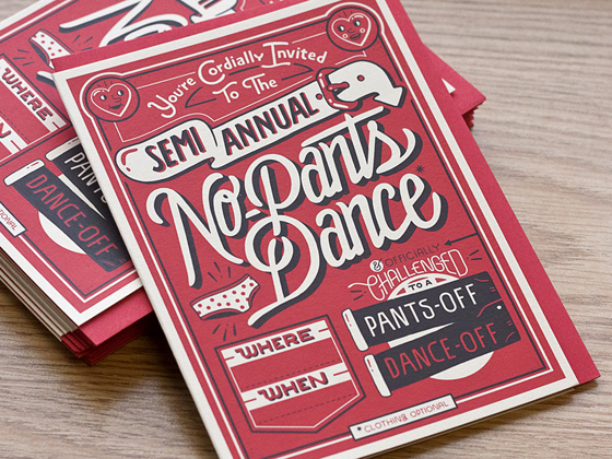 No Pants Dance cards