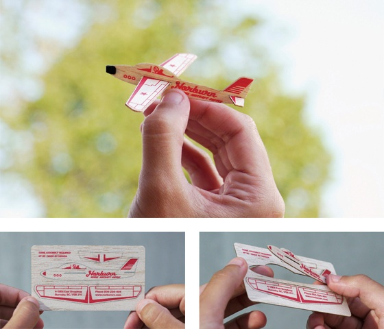 Norburn's flying business card