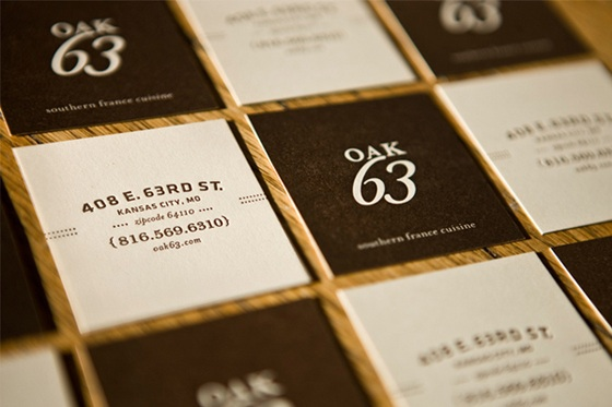 Oak 63 business card