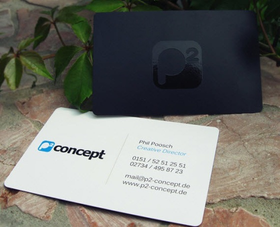 p2 concept business card