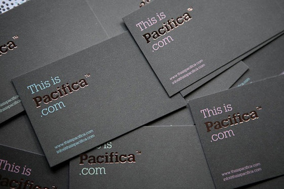This is Pacifica business cards