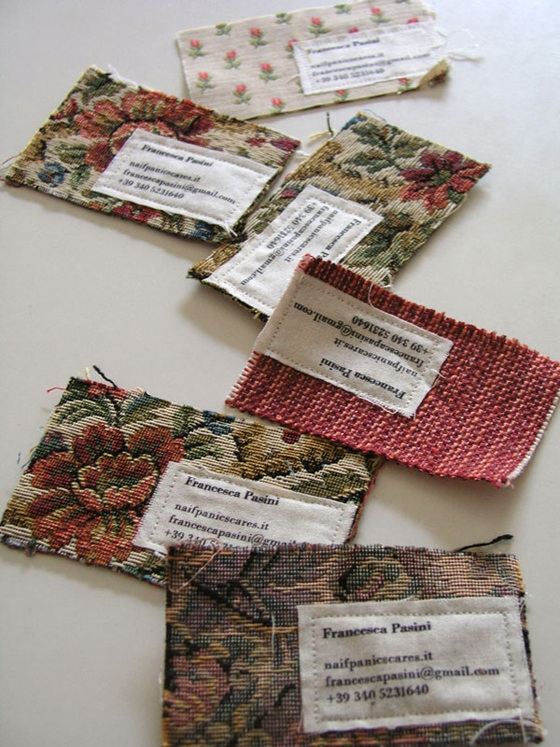 Textile business cards