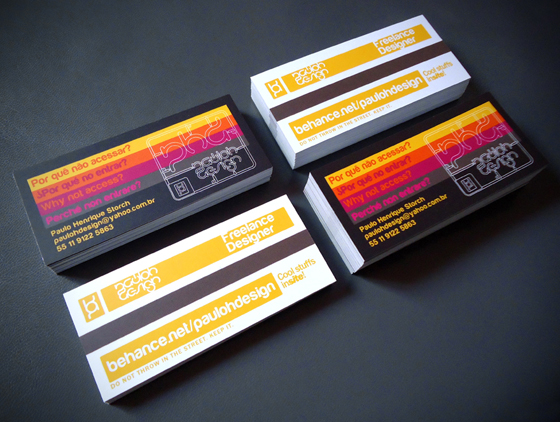 Pauloh Design business cards