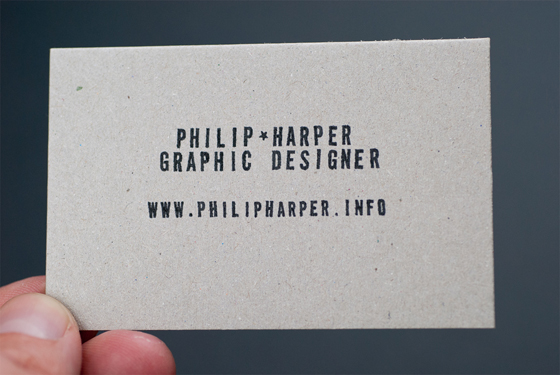 Philip Harper business card