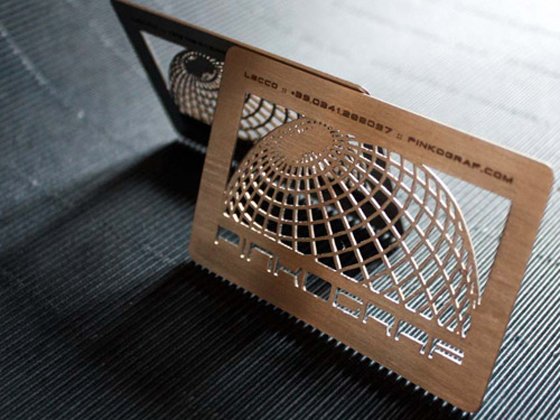 Lasercut business cards