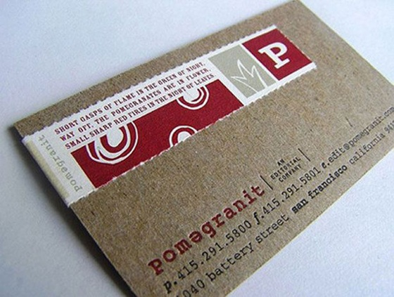 Pomegranit business card